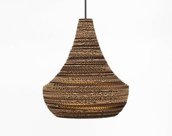 Djinn. Corrugated cardboard lamp