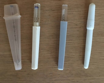 Vintage oral fever thermometers lot of 4