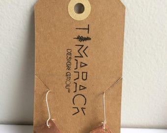 Copper Rectangle Earrings