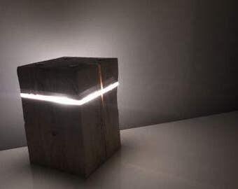 Modern wood the LED lamp