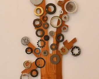 Tree, wall, different decoration, design, wooden decoration