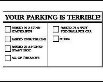 Wild image in bad parking cards printable