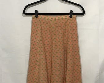 1960s-70s | Vintage Pink Skirt | Lined