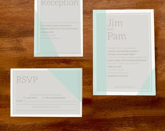 Color Block Wedding Stationery