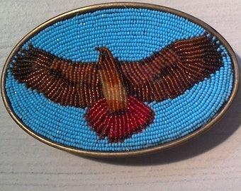 Redtail hawk belt buckle