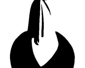 Yohji Yamamoto cut out illustration
