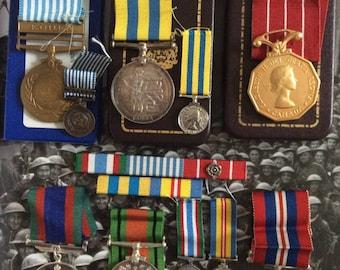 Canadian Korean War Service Grouping / Named / Korea War / WWII / Military Badges / Canada