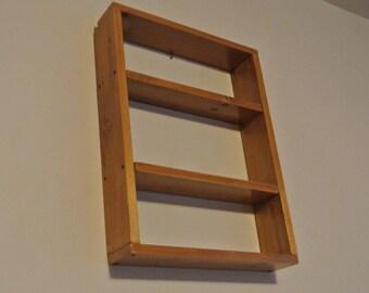 Wood 3 Level Wall Shelf