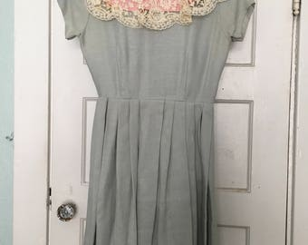 Vintage lace baby doll dress