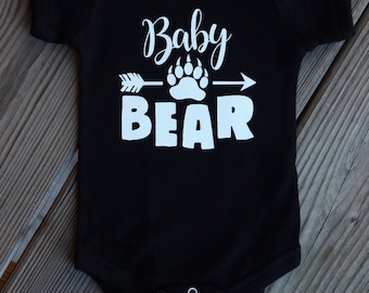 Baby Bear Paw Newborn Onesie Bodysuit Creeper Take Home Outfit Baby Shower Gift