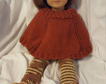 Poncho and Leggings 18 inch doll