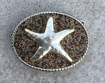 Beaded Belt Buckle Starfish
