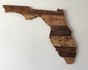 Florida Reclaimed Wood Wall Art
