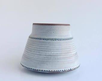 Hand-made Vintage Pottery//Rustic Ceramic Mug//Hand Thrown Pottery Vase//Western Inspired Ceramic Mug//Vintage Pottery//Wheel Thrown Pottery