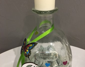 Beautiful Patron Bottle Candle Holder