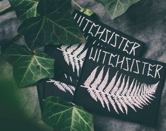 Witchsister embroidered Patch Fern