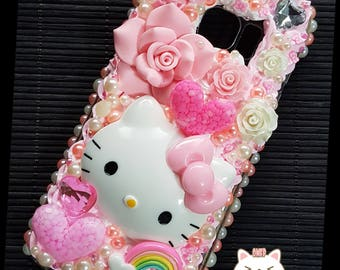 Kawaii Hello Kitty Decoden Phone Case Samsung 7 Edge