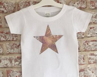 Short rolled sleeved Star T-Shirt