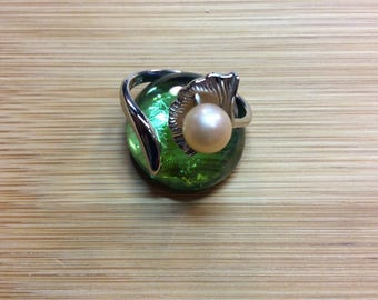 Lotus Pearl Ring