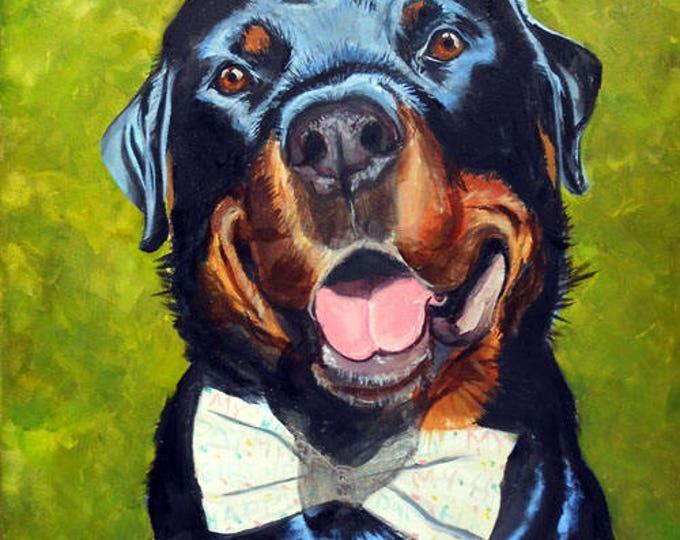 Rottweiler Oil Painting Portrait Artist