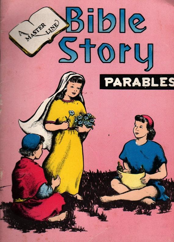 Bible Story Parables a Master Line - Frances C. Sivers - Dorothea M. Gardner - 1959 - Vintage Kids Religious Book