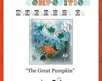Crazy Quilt Block Pattern The Great Pumpkin by Pamela Kellogg