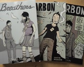 Graphic Novel 3-Pack - self-published comics by Justin Madson - Breathers + Carbon