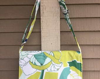 Messenger Bag IKEA Floral Canvas Fabric