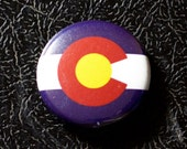 "1"" Colorado flag button, state, pin, badge, pinback"