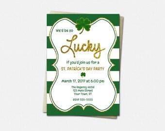 St Patricks Day Invitations - Lucky Invitations - St Patricks Day Party Invitations