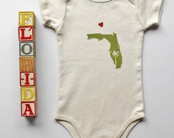 Florida_Organic cotton short sleeve onesie-The Sunshine State