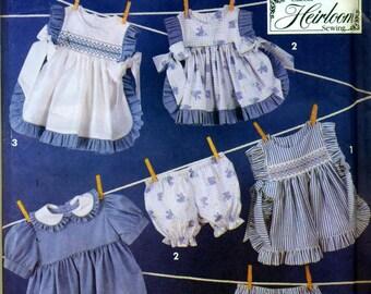 Simplicity 7809 Oliver Goodin SMOCKING Toddler 2-4 Dress Pinafore Panties HEIRLOOM SEWING  ©1992