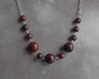 Poppy Jasper Rounds Necklace