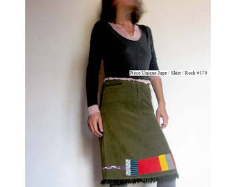 "Patchwork skirt ""Vertical"" lines size 40 #170"