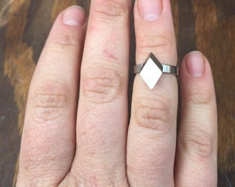 Silver Stacking Rings. Handmade Silver Rings. Geometric Jewelry. Simple Silver Ring. Modern Jewelry. Minimalist Jewelry. Delicate Rings.