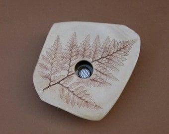 Ceramic Fern Vase . Handmade Pottery . Ikebana Vase