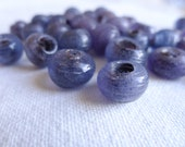 CLEARANCE 30 Glass Artisan Handmade Traditional Rustic Turkish Glass Beads, Lavender Purple