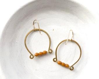 Handmade Earrings / Wire Earrings / Dangle Earrings / Simple Earrings / Holiday Gift for Her / Stocking Stuffer / Gifts Under 25 / Earrings