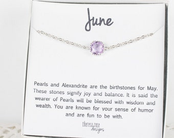 June Birthstone Silver Bracelet, Light Amethyst Bracelet, June Birthday Bracelet, Silver Bracelet, June Birthstone Bracelet, Gifts Under 20