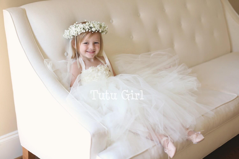 Ivory Flower Girl Dress Ivory Tutu Dress