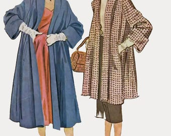 1950s SWING Coat in Two Lengths McCalls 9668 Vintage 50s Sewing Pattern Size 42 Bust 42