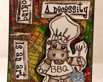 1524 Hippo Dad Digi Stamp
