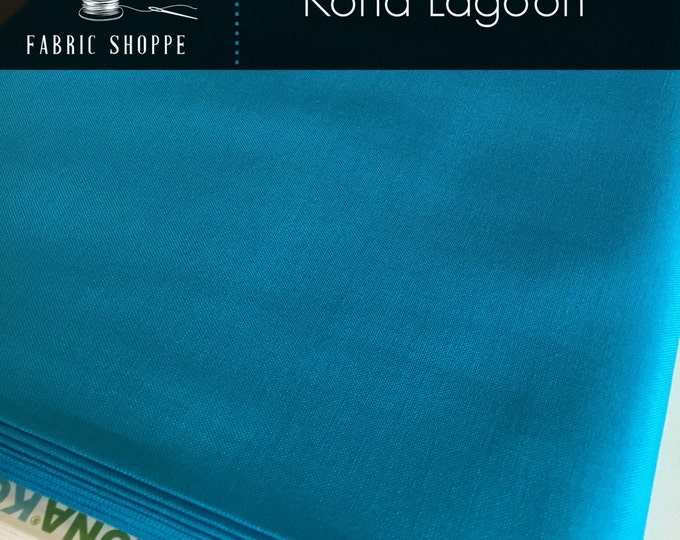 Kona cotton solid quilt fabric, Kona LAGOON 139, Kona fabric, Solid fabric Yardage, Kaufman, Turquoise fabric, Choose the cut