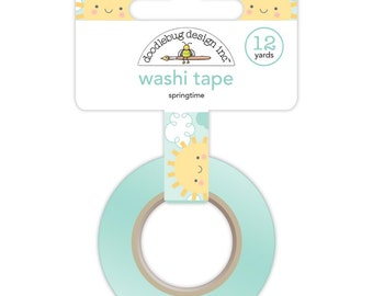 Springtime Washi Tape • Sunshine and Clouds Spring Things Doodlebug Decorative Tape (5465)