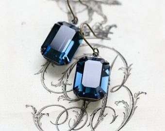 Montana Sapphire Estate Style Earrings - FREE SHIPPING