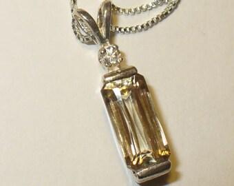 Turkish Diaspore Pendant Necklace in Solid Sterling Silver - Genuine Natural Color Change Gemstone