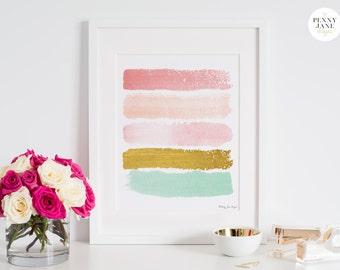 Abstract Art Print, Paint Strokes Art, Abstract Digital Painting, Abstract Wall Art, Digital Art, Nursery Art Print, Office Decor Art
