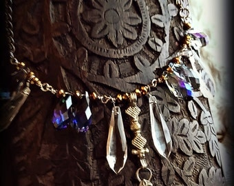 Magic Current Statement or Performance Necklace - Tribal Fusion Faerie Fae Elf Boho Bohemian