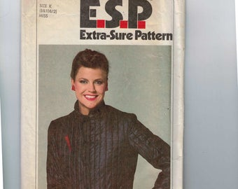 1970s Vintage Sewing Pattern Simplicity 9305 Misses ESP Easy Quilted Jacket Unlined Size 8 10 12 Bust 31 1/2 32 1/2 34 1979 70s