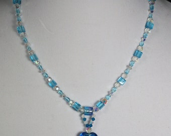 Blue Dichroic Necklace